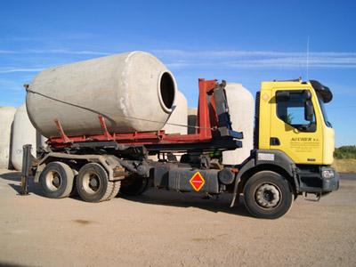 Camión de transporte de tinajas